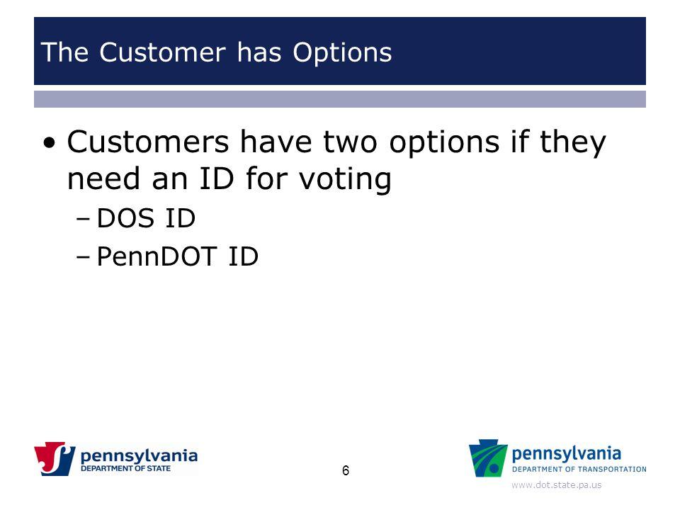 The Customer has Options