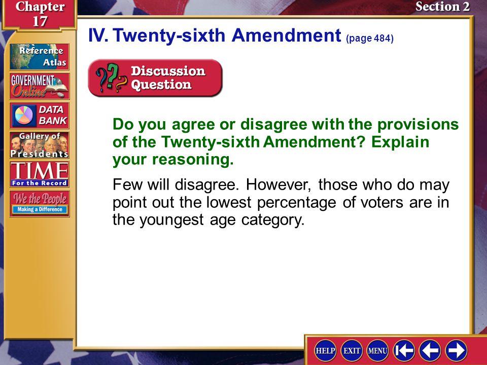 IV. Twenty-sixth Amendment (page 484)