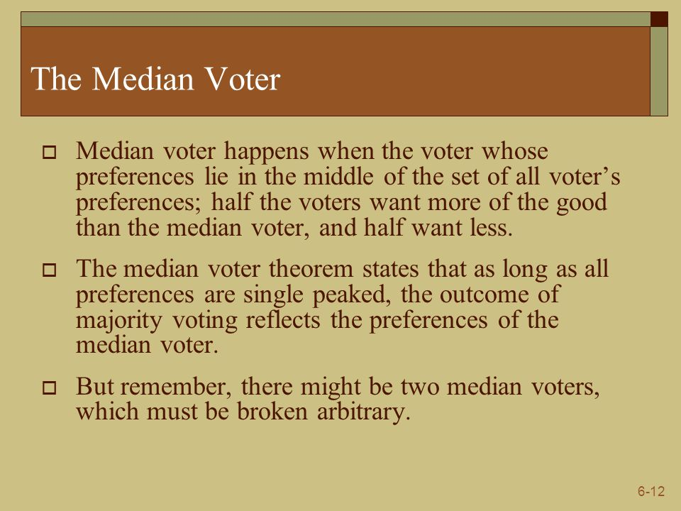 The Median Voter