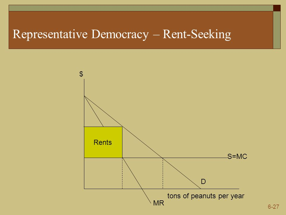 Representative Democracy – Rent-Seeking