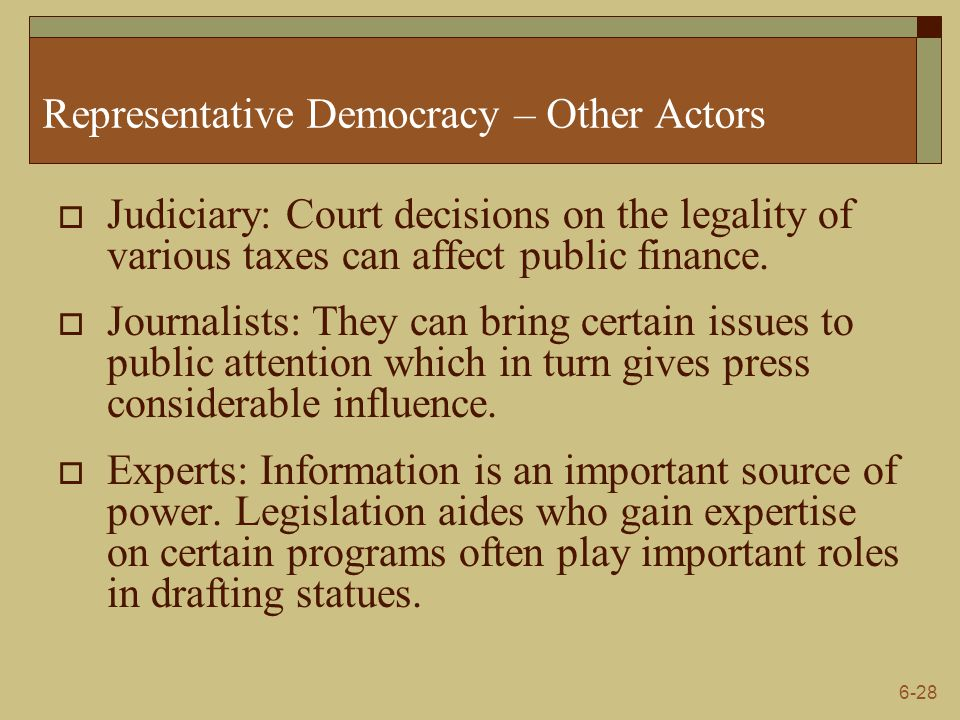 Representative Democracy – Other Actors