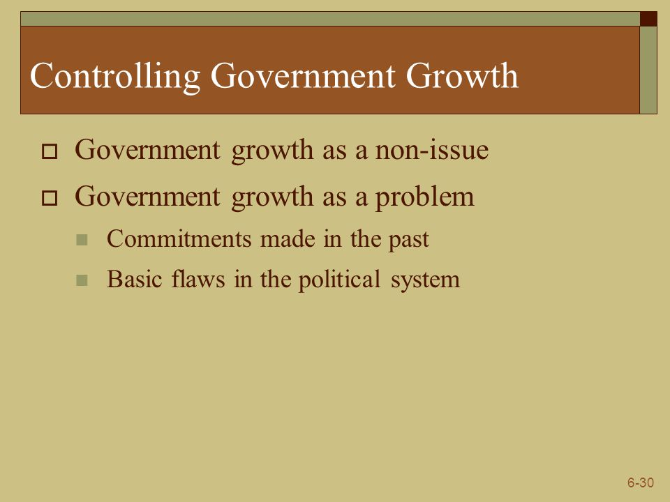 Controlling Government Growth