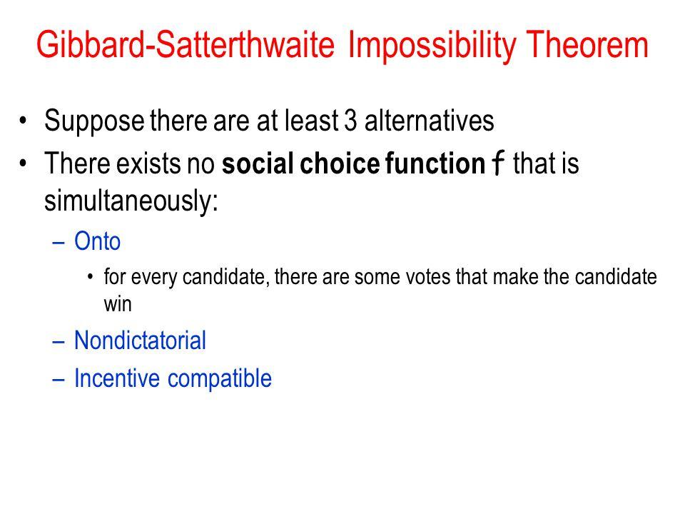 Gibbard-Satterthwaite Impossibility Theorem