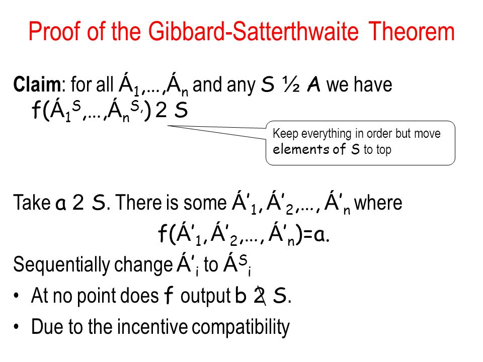 Proof of the Gibbard-Satterthwaite Theorem