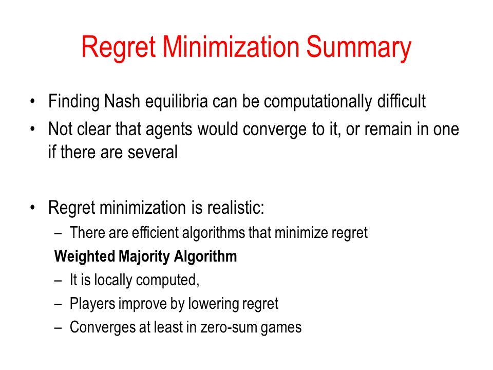 Regret Minimization Summary