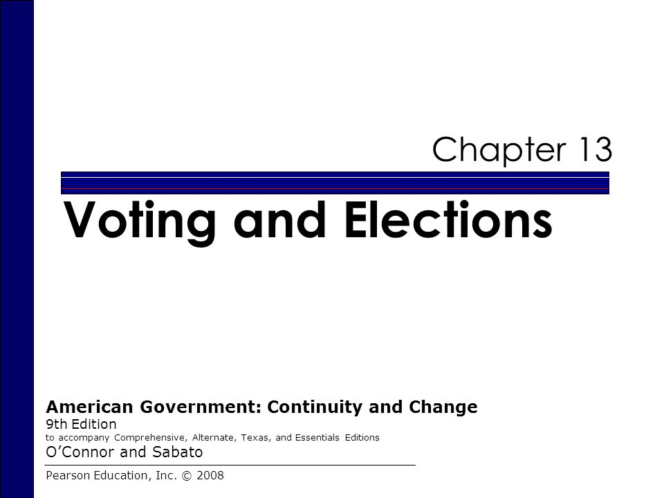 Voting and Elections Chapter 13