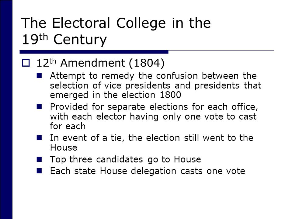 The Electoral College in the 19th Century