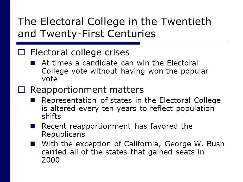 The Electoral College in the Twentieth and Twenty-First Centuries