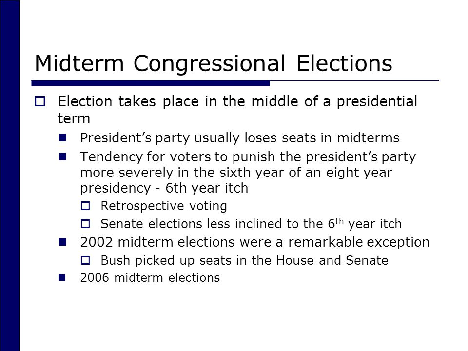 Midterm Congressional Elections
