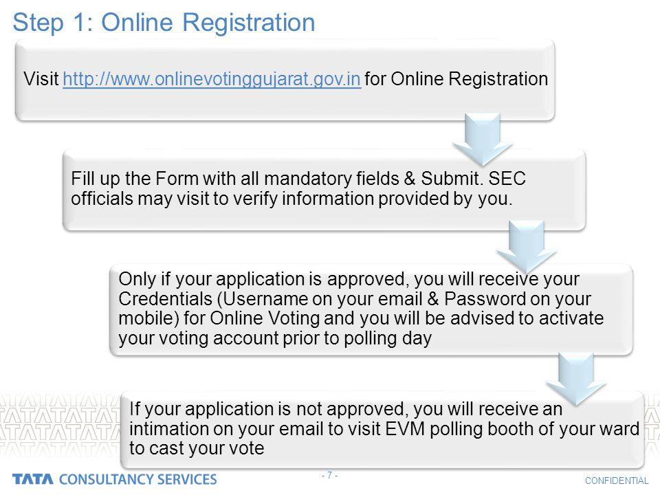 Step 1: Online Registration