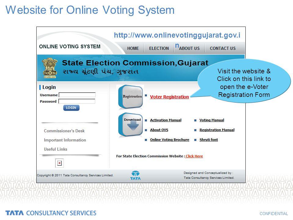 Website for Online Voting System