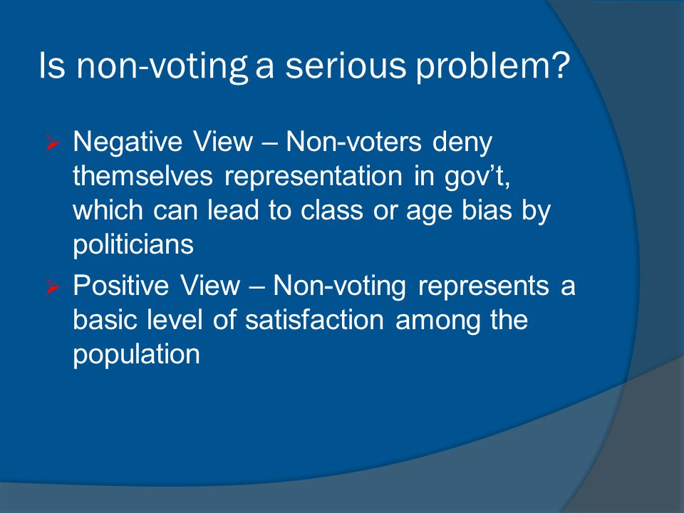 Is non-voting a serious problem