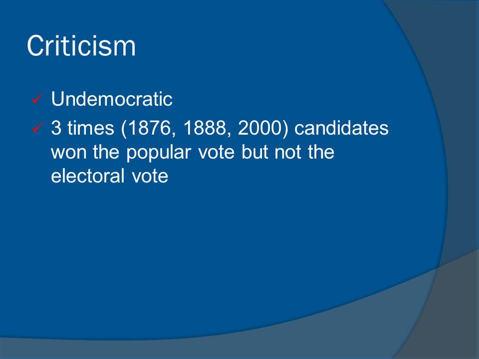 Criticism Undemocratic