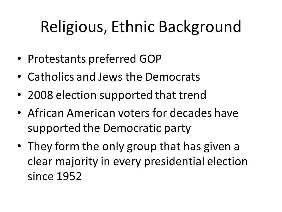 Religious, Ethnic Background