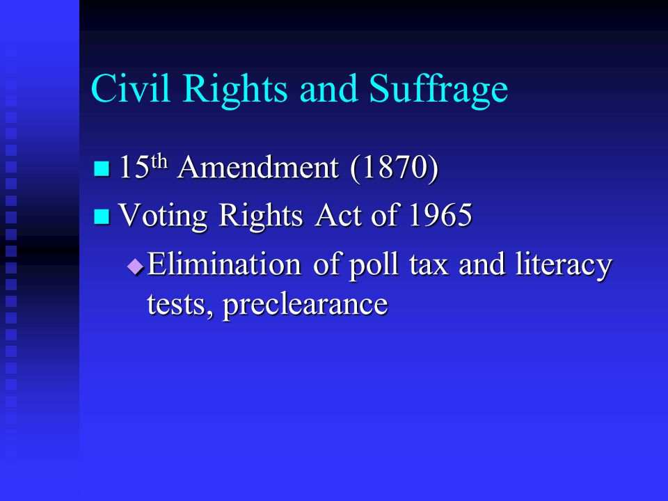 Civil Rights and Suffrage