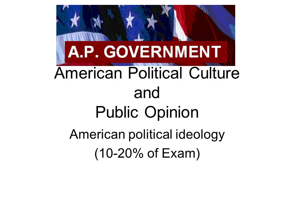 American Political Culture and Public Opinion