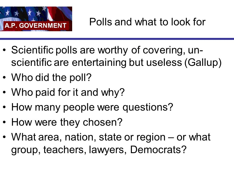 Polls and what to look for