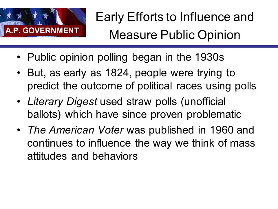 Early Efforts to Influence and Measure Public Opinion