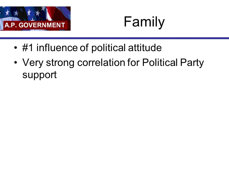 Family #1 influence of political attitude