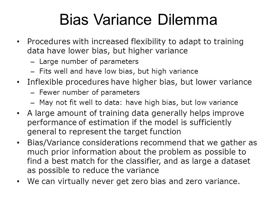 Bias and Variance for Classification