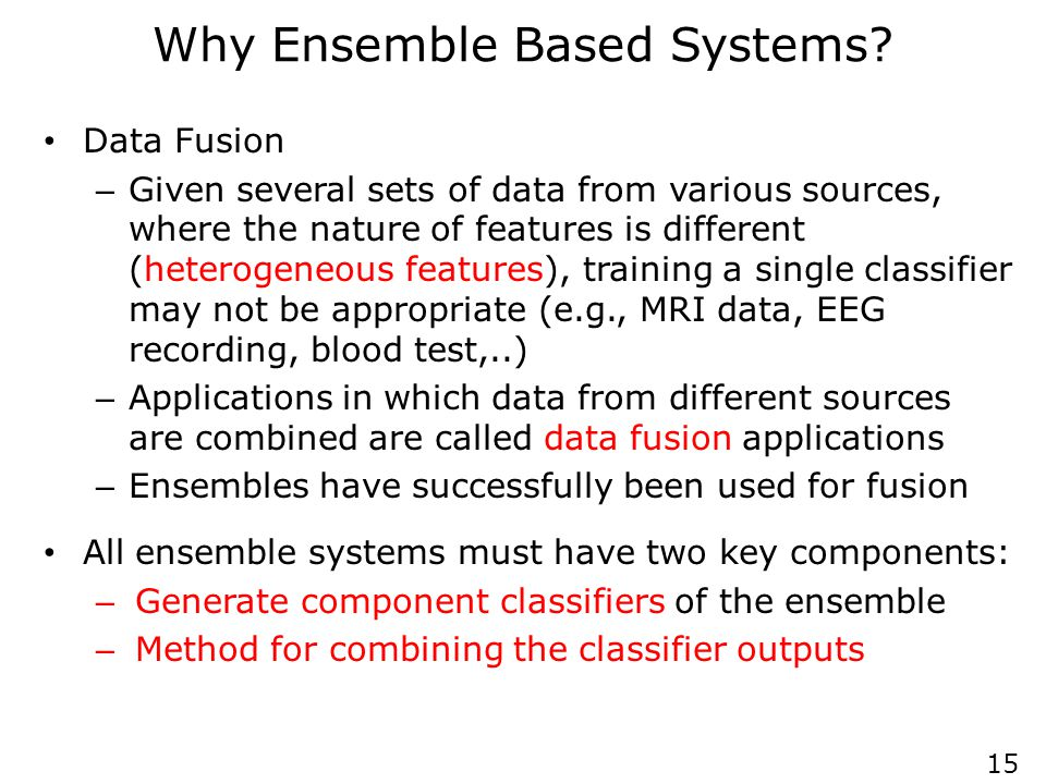 Brief History of Ensemble Systems