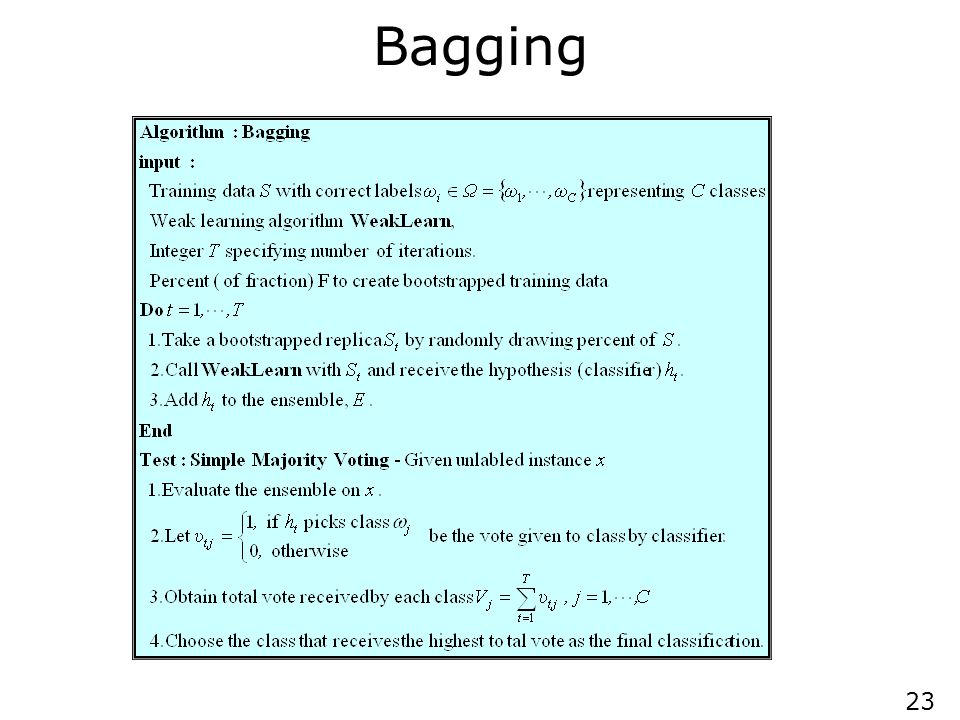 Variations of Bagging Random Forests