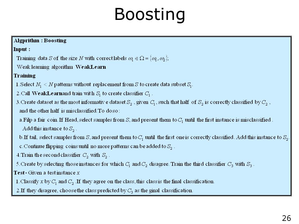 AdaBoost AdaBoost (1997) is a more general version of the boosting algorithm; AdaBoost.M1 can handle multiclass problems.