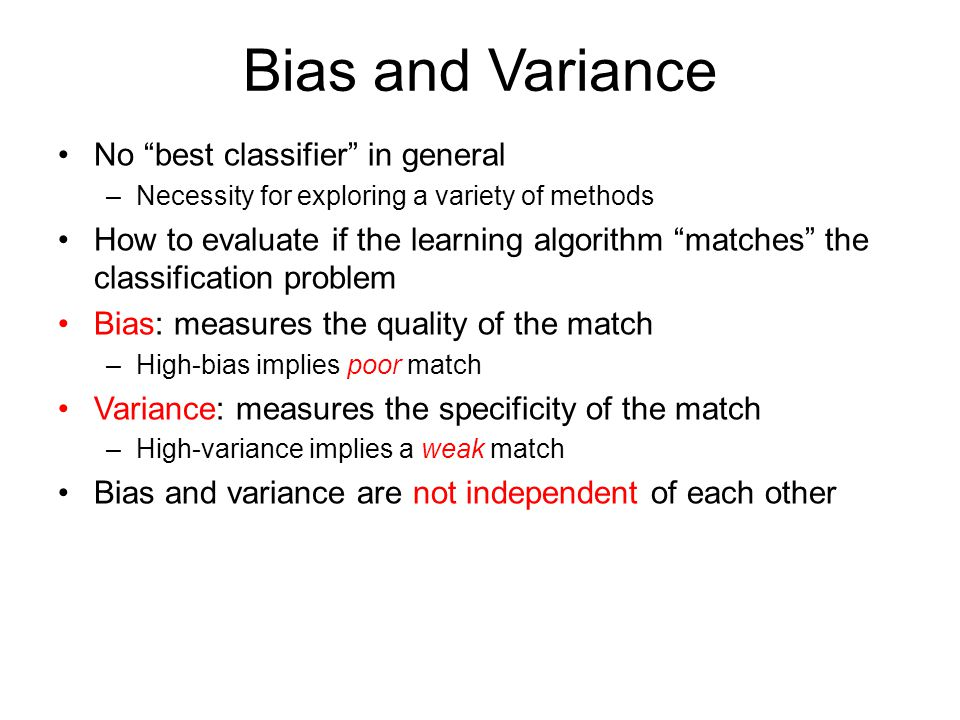 Bias and Variance Given true function F(x)