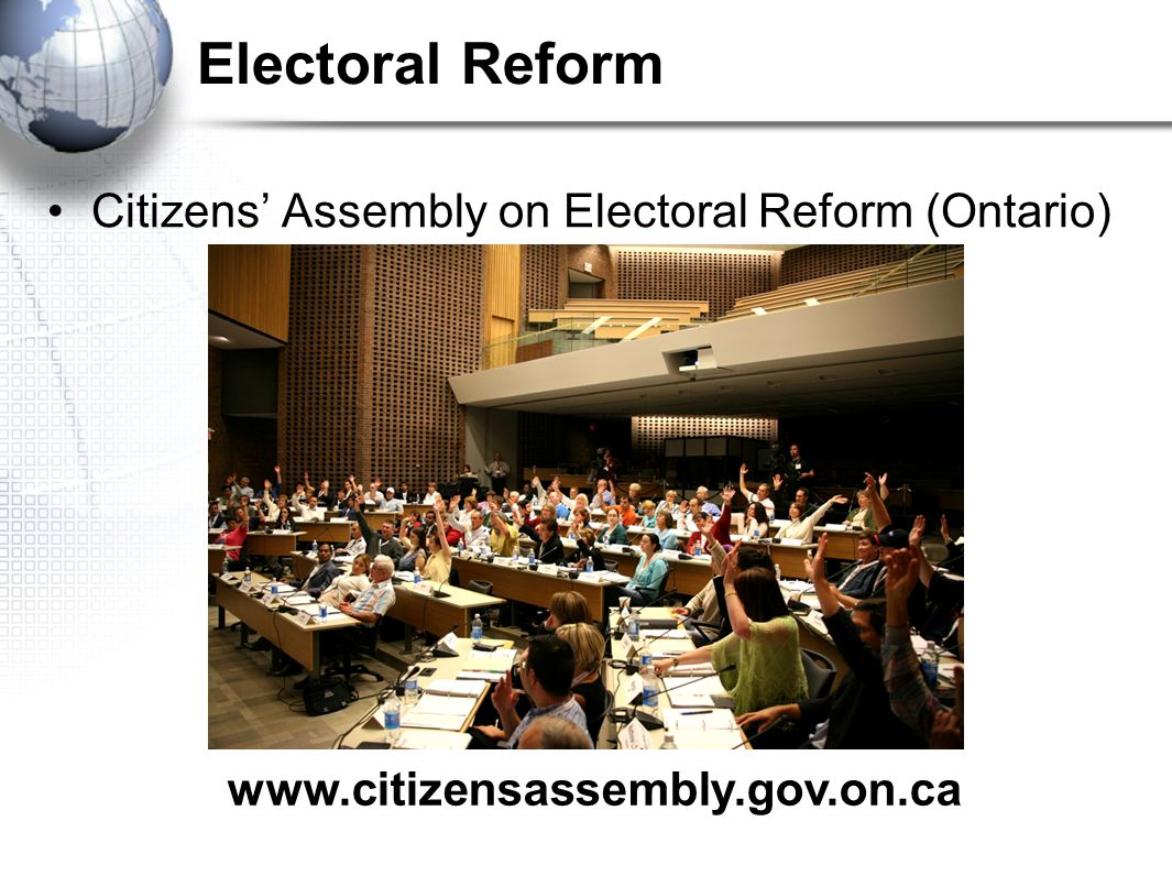 Electoral Reform Citizens' Assembly on Electoral Reform (Ontario)