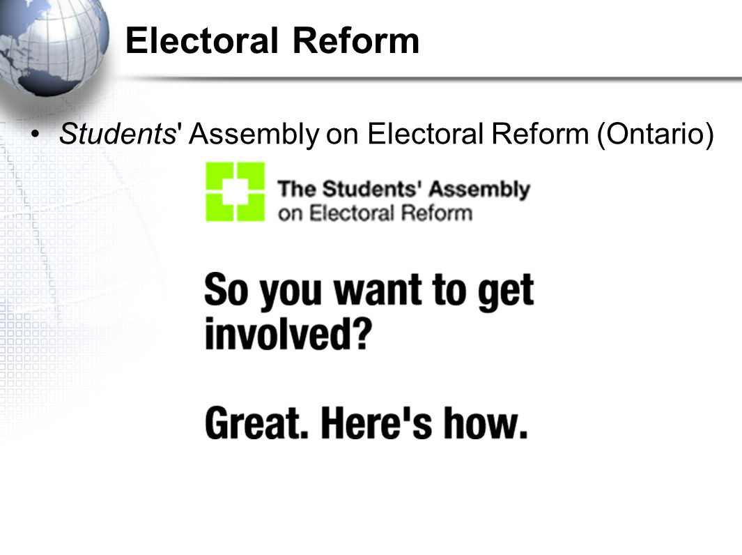 Electoral Reform Students Assembly on Electoral Reform (Ontario)