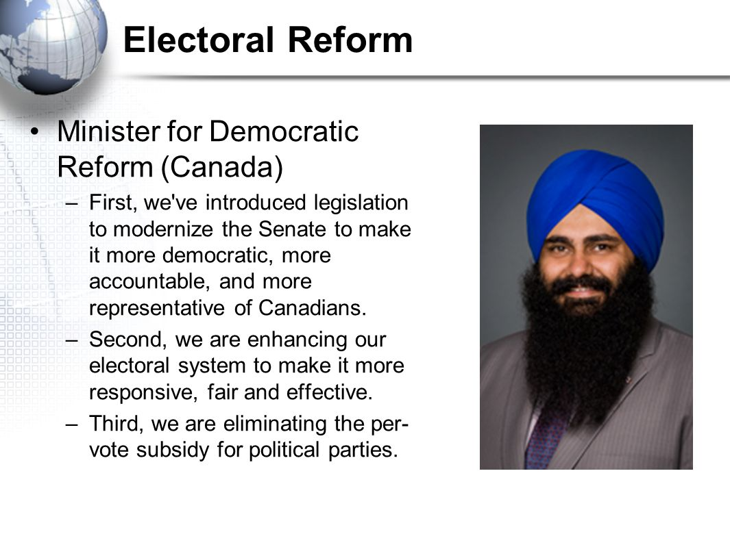 Electoral Reform Minister for Democratic Reform (Canada)