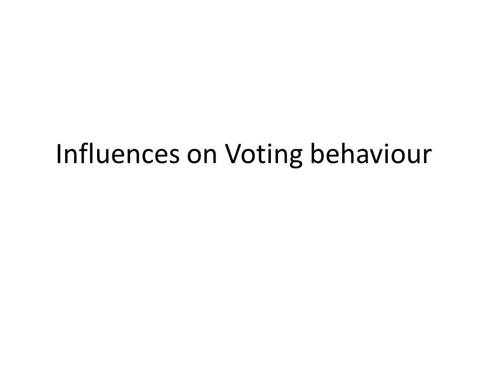 Influences on Voting behaviour