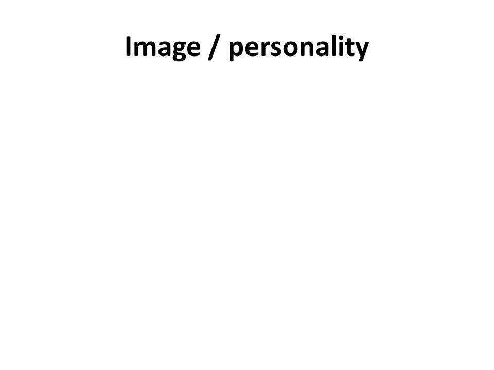 Image / personality