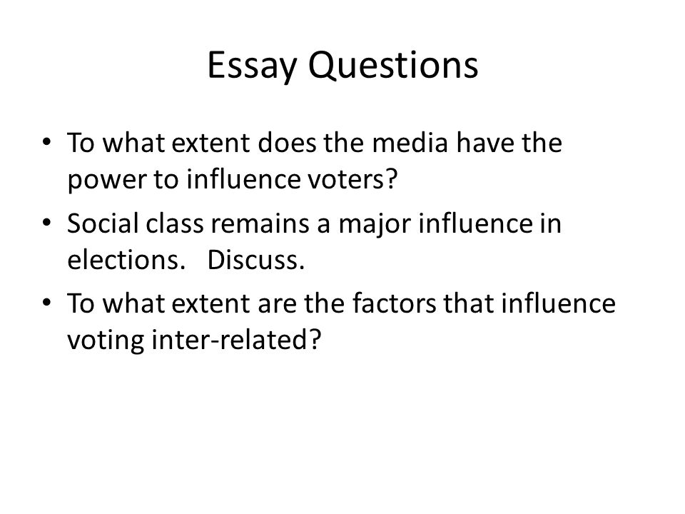 Influence essay