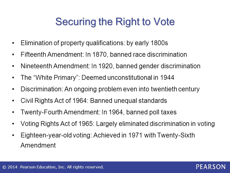 Securing the Right to Vote