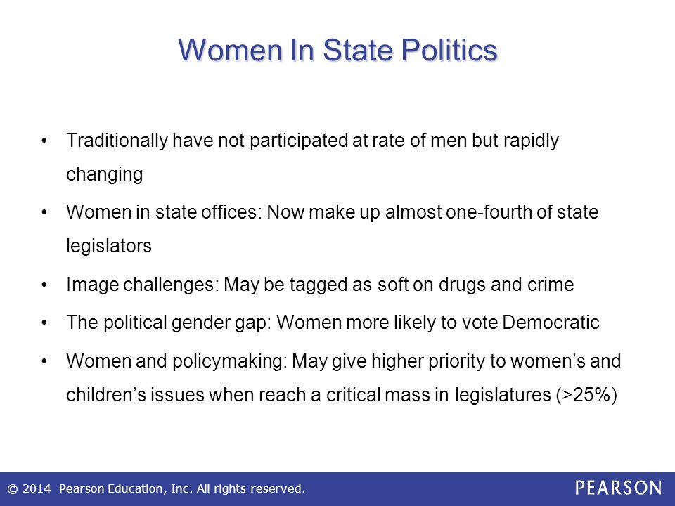 Women In State Politics