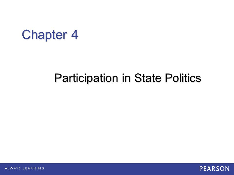 Participation in State Politics