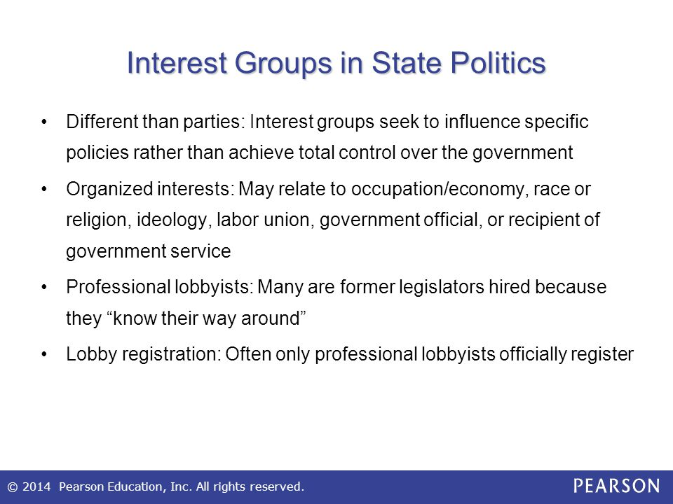 Interest Groups in State Politics