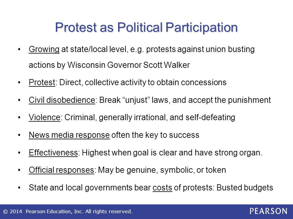 Protest as Political Participation
