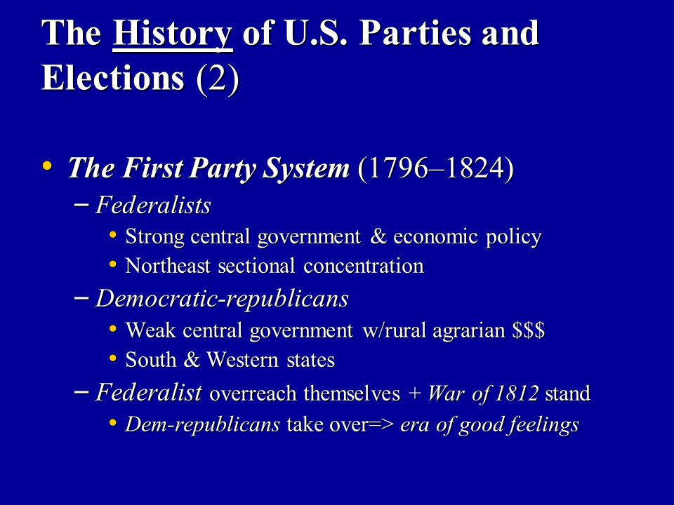 The History of U.S. Parties and Elections (2)