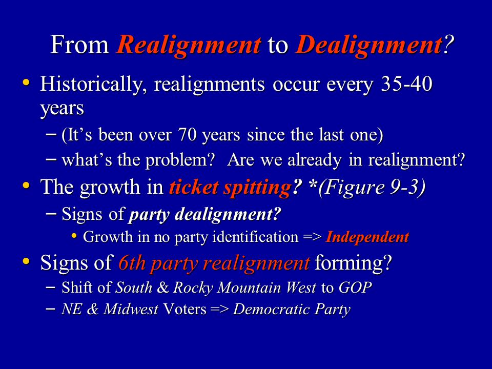 From Realignment to Dealignment
