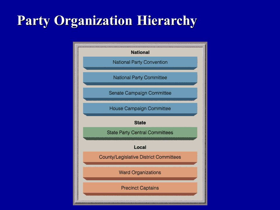 Party Organization Hierarchy