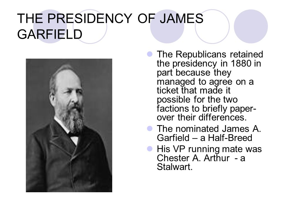 THE PRESIDENCY OF JAMES GARFIELD