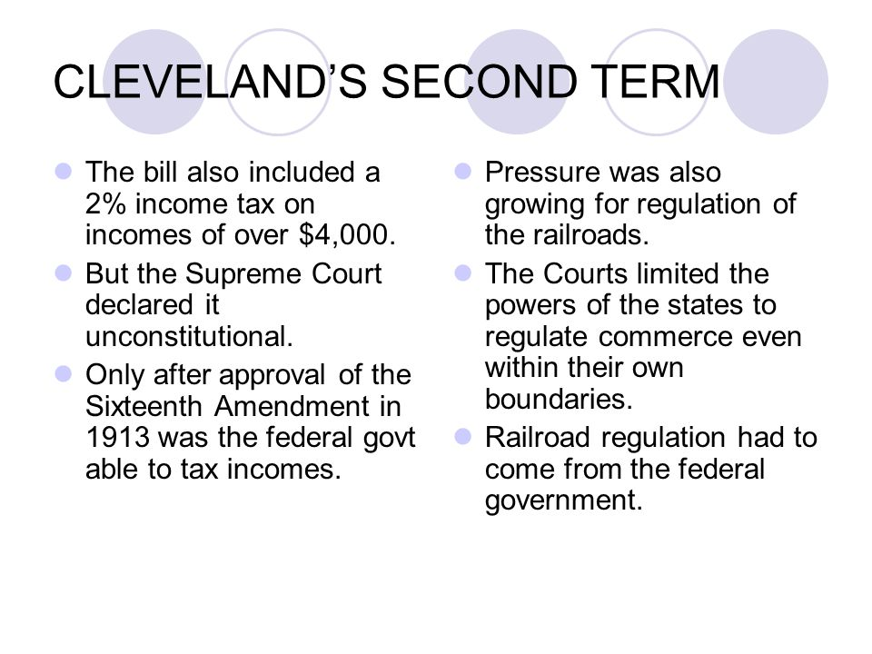 CLEVELAND'S SECOND TERM