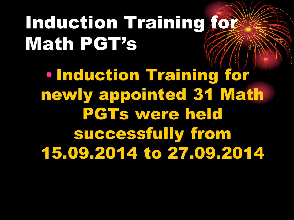 Induction Training for Math PGT's