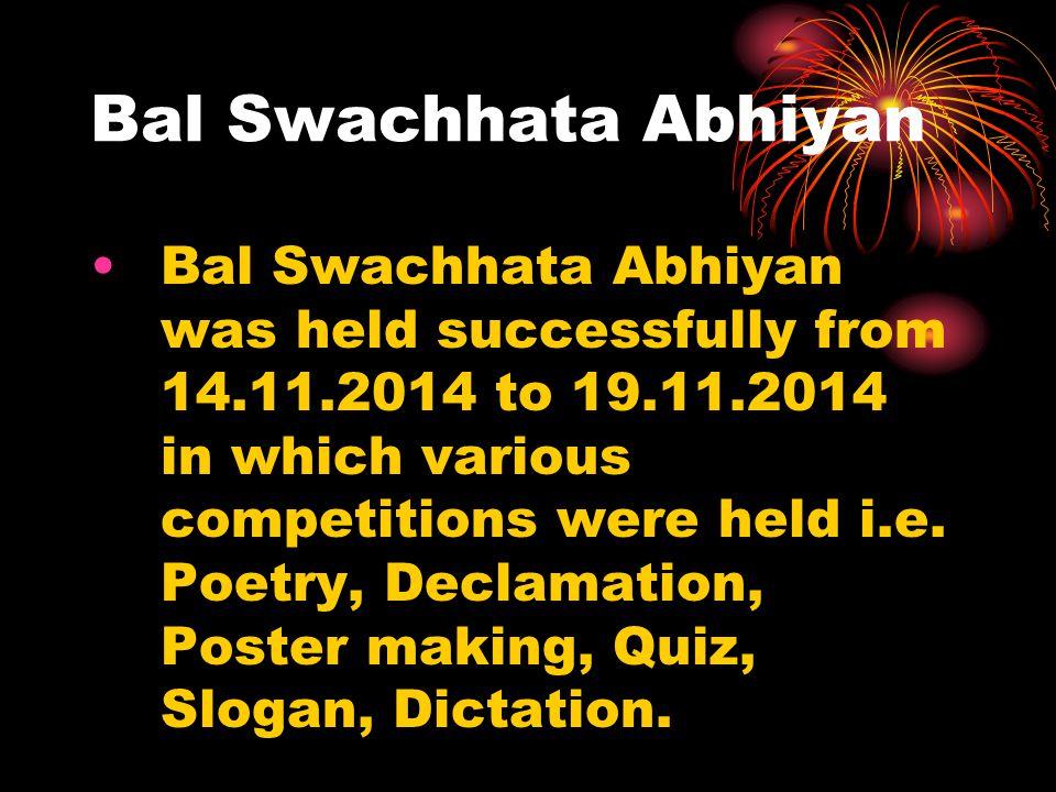 Bal Swachhata Abhiyan