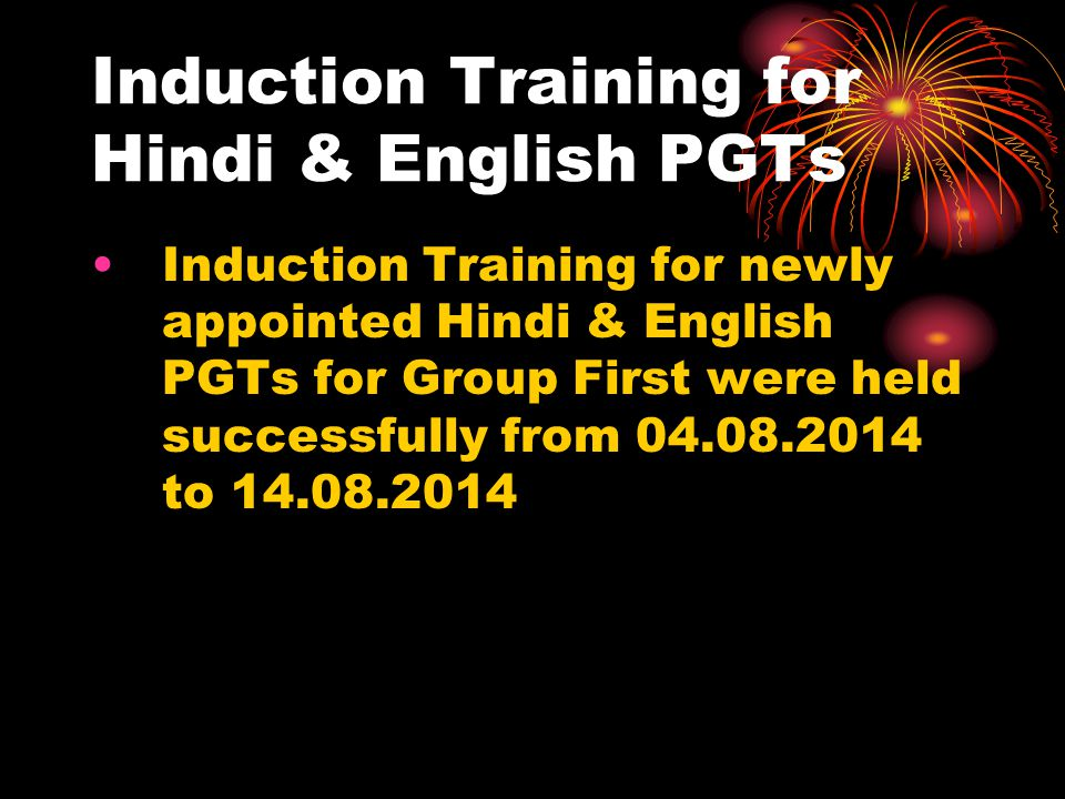 Induction Training for Hindi & English PGTs