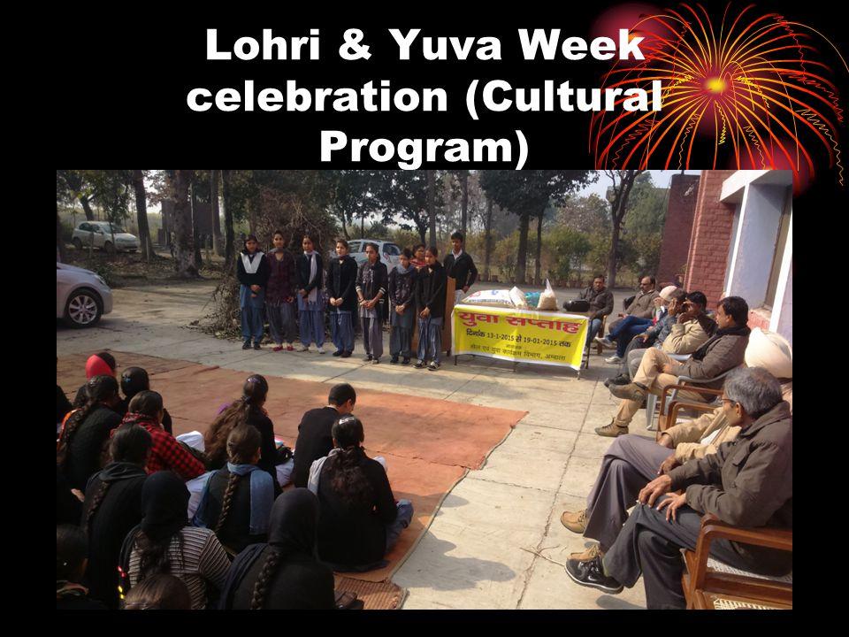 Lohri & Yuva Week celebration (Cultural Program)