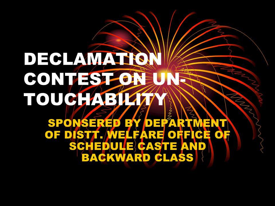 DECLAMATION CONTEST ON UN-TOUCHABILITY