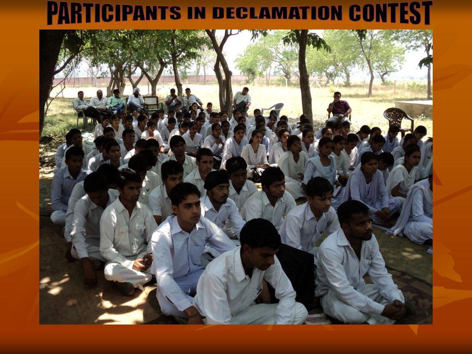 PARTICIPANTS IN DECLAMATION CONTEST